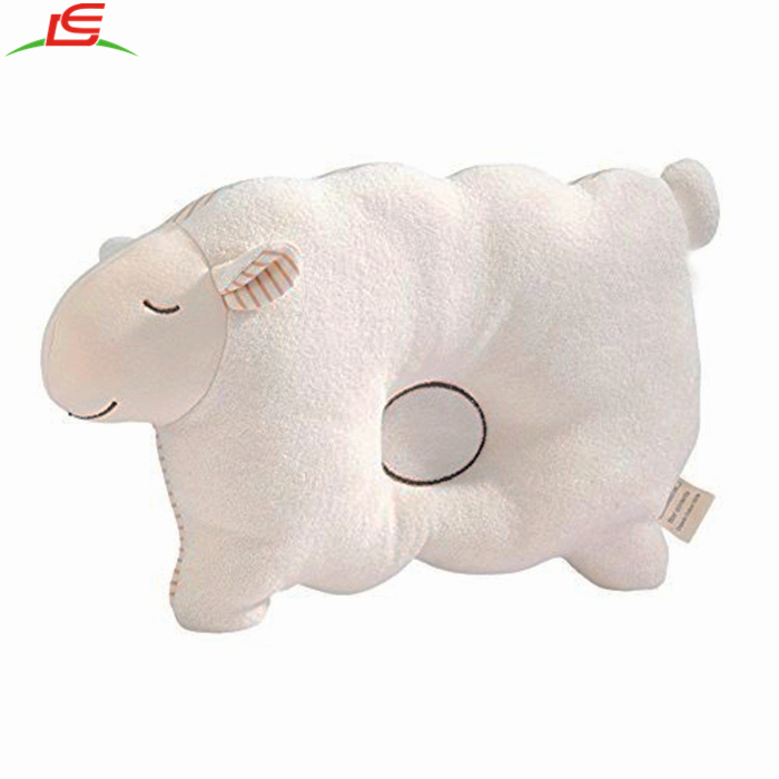 Baby Pillow Organic Cotton gift for newborn with sheep shape