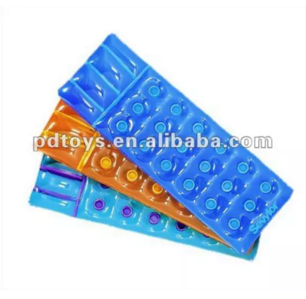 Inflatable pvc air mattress air floats with holes