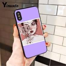 Yinuoda Популярные эстетическое искусство аниме красивые девушки глаза PhoneCase для iPhone 8 7 6 6S 6plus X XS MAX 5 5S SE XR 11 11pro 11promax(Китай)