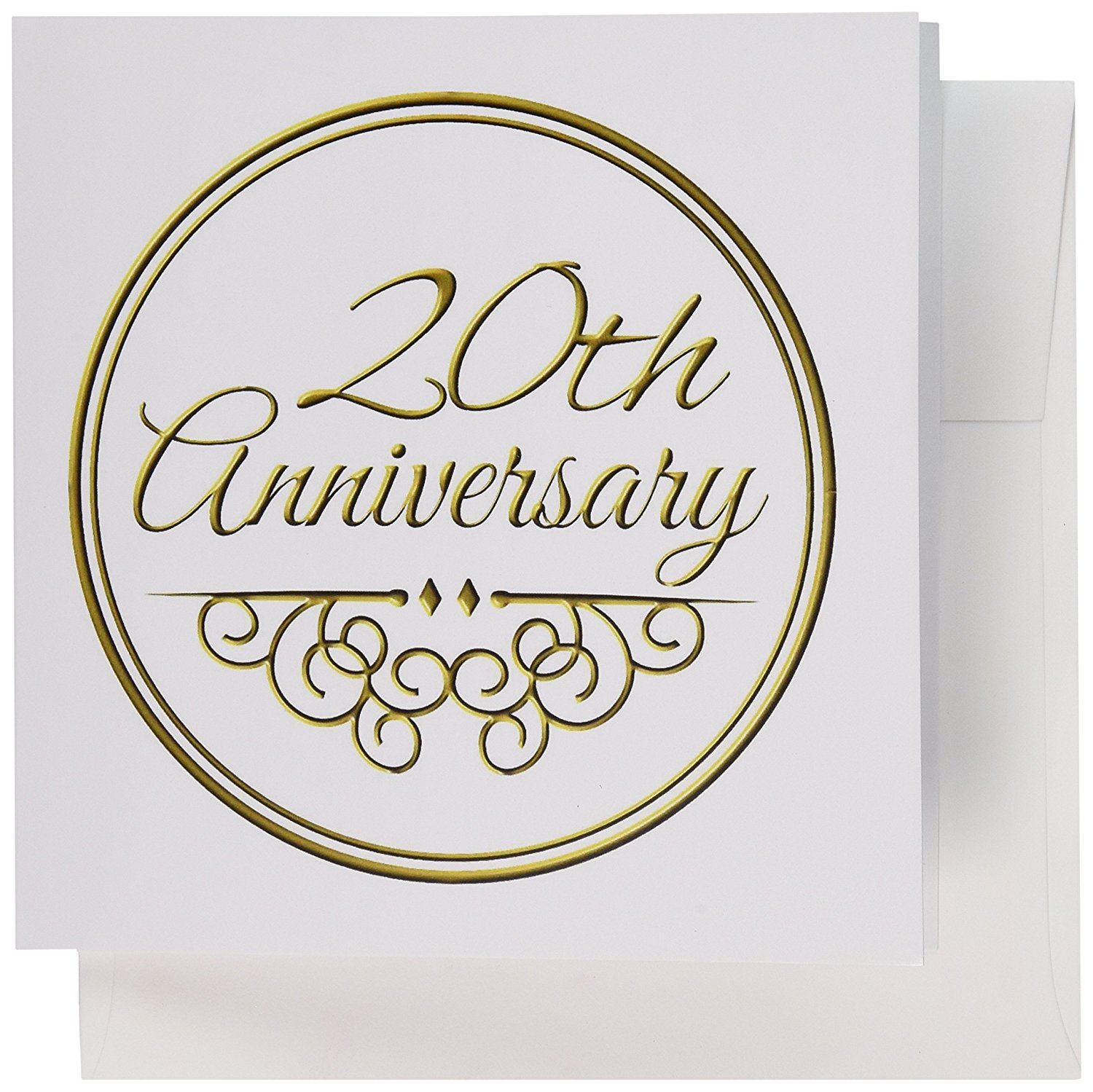 Cheap wedding greeting cards find wedding greeting cards deals on get quotations 3drose 20th anniversary gift gold text for celebrating wedding anniversaries greeting cards 6 kristyandbryce Images