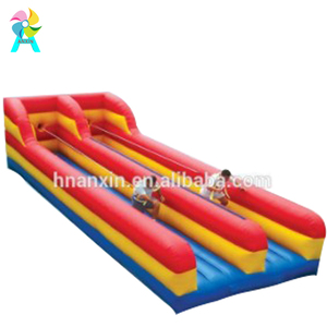 Inflatable Bungee Run Bouncer, Double Lane Bungee Run/Bungee Jumping Run For Adults