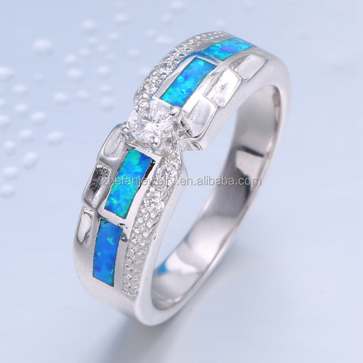 925 silver ring necklace finger ring designs synthetic opal indian jewelry