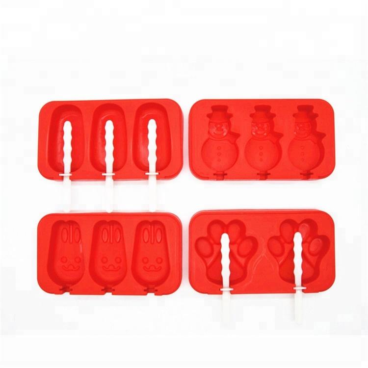 Новый мульти-формы силиконовые Popsicle Плесень с палками, набор из 4 стекируемые льда поп аппарат для изготовления палочек