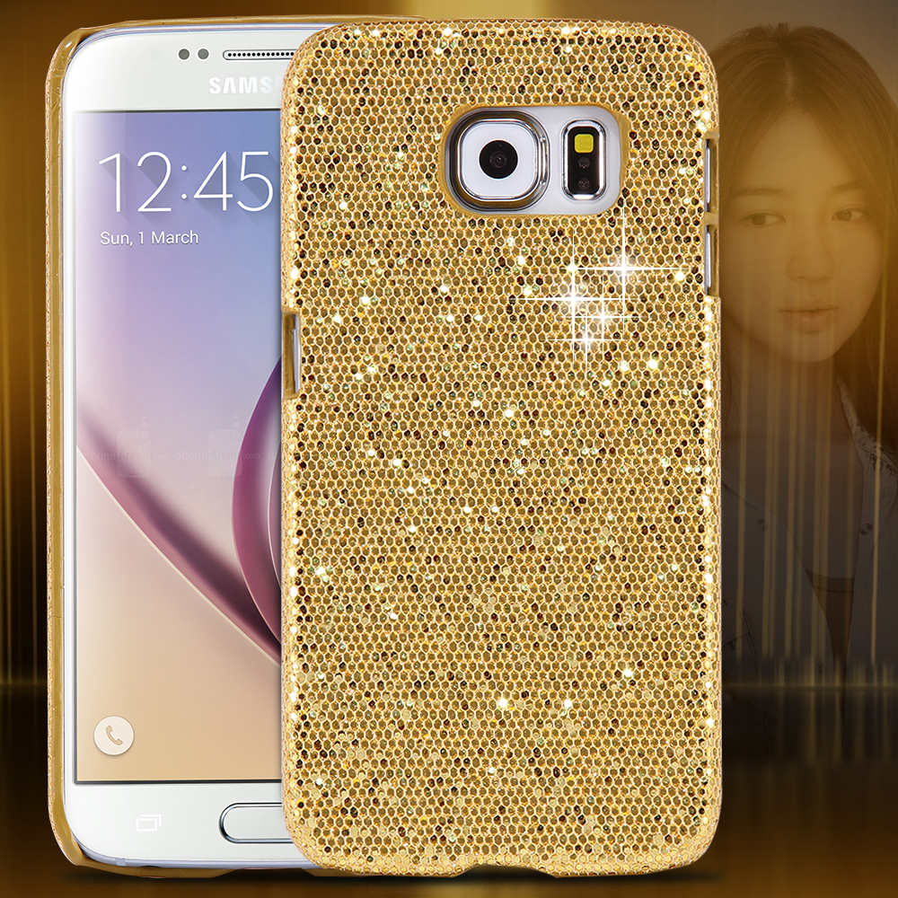 new product eea62 5db7e Bling Hard Glitter Case For Samsung S6 G9200 Back Cover Ultra Thin Luxury  Mobile Phone Accessories Cover for Gir;l's Capa S6