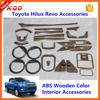 hilux revo wooden colors full interior decoration accessory for hilux 4x4 car interior decorations/trims for toyota hilux revo