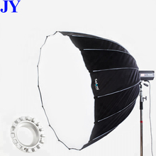 JingYing professionele 16 rib 90 cm diepe fotostudio parabolische softbox met <span class=keywords><strong>bowens</strong></span> <span class=keywords><strong>mount</strong></span>