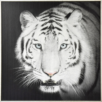 Handmade Oil White Tiger Painting For Home Decor Canvas Animal Of Paintings