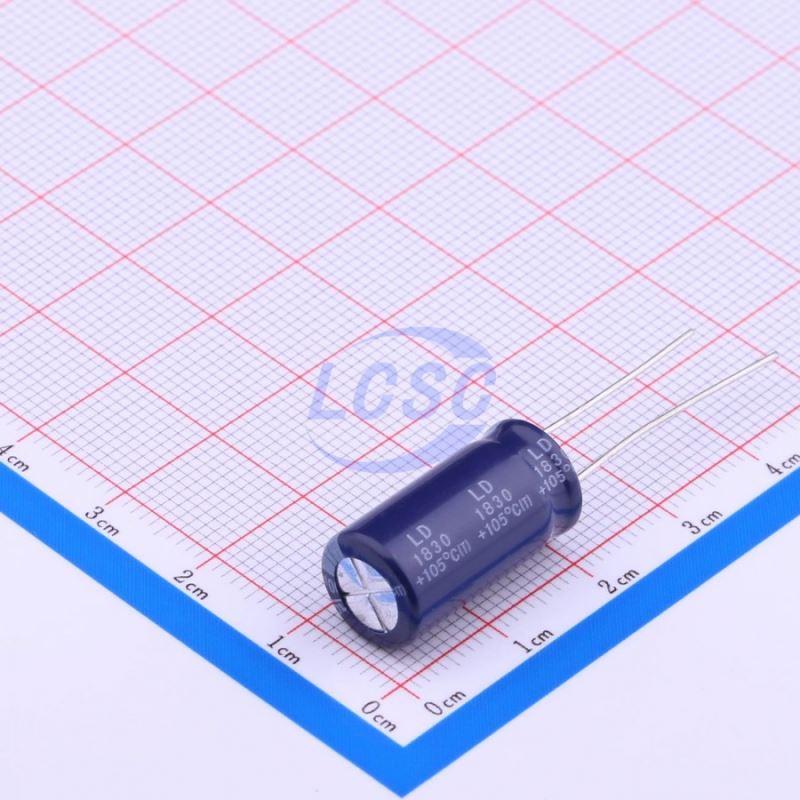 100 pcs 1500uf 16V 105/' RADIAL ALUMINUM ELECTROLYTIC CAPACITOR 10x20