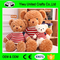 customized stuffed plush teddy bear with US pattern or your own logo
