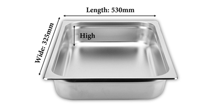 China Supplier High Quality 201# Stainless Steel GN Pan 1/1 Gastronorm Containers