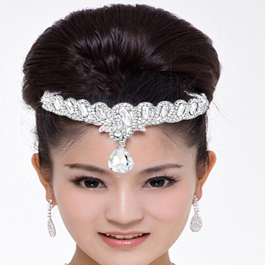2015 Wedding bridal tiara and crowns fashion silver plated tiaras for girls rhinestone crown tiaras 1pcs/lot