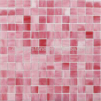 Tiffany Stil Kunst Gradienten Rosa Glas Mosaik Fliesen Wand Dekor