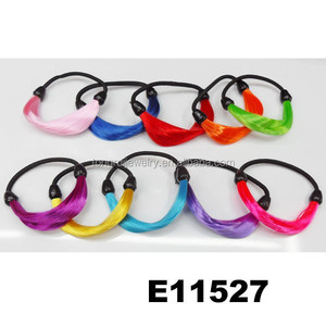 assorted colored human hair wig elastic hair tie wholesale
