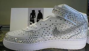 Buy High Top Nike Air Force One Rhinestone Sneakers 7C in Cheap ... ff6813444