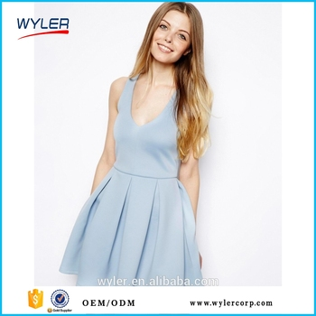 f2f45382436d 2016 Summer Women Backless Party Dresses Europe Brandy Melville Bow Deep  V-Neck Strapless Sexy