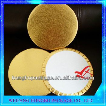 Gold Foil Laminated Paper Cake Plate : disposable cake plates - pezcame.com