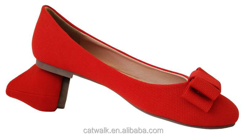 Beautiful Classy Women Flat Shoes Bright Red Shoes Made In China ...