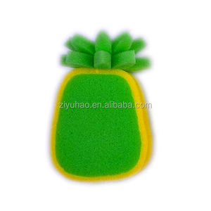 Hot-sale body cleaning fruit-shaped colorful PU foam bath sponge