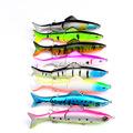 8Pcs Lot Large Lure Fishing Lures Bright Crank Bait Crankbaits Isca Artificial Tackle 12 7cm 17