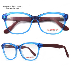 380bccbee5ed New Crystal Blue Dark Red Cute Men Women Fashion Design Glasses Frame Clean  lens Acetate