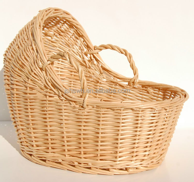 Eco-friendly baby furniturecribs Baby Moses basket wicker Baby Pod basket