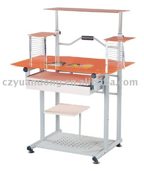 Modern Cheap Steel Glass Computer Table Models - Buy Computer ...