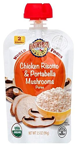 Earth's Best 2nd Foods World Foods - Chicken Risotto & Portabella Mushrooms - 3.5 oz - 6 pk