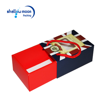 custom china suppliers print logo rope handles paper packaging gift box wholesale drawer cardboard christmas boxes