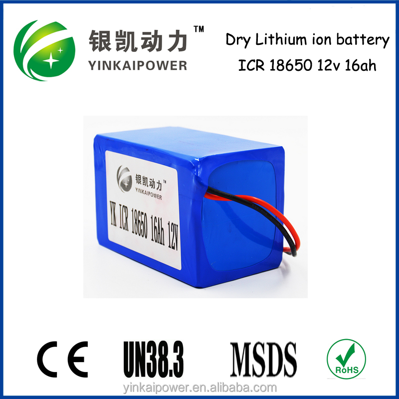 Factory price LifePO4 Battery 12V 16Ah for UPS, solar storage, golf cart