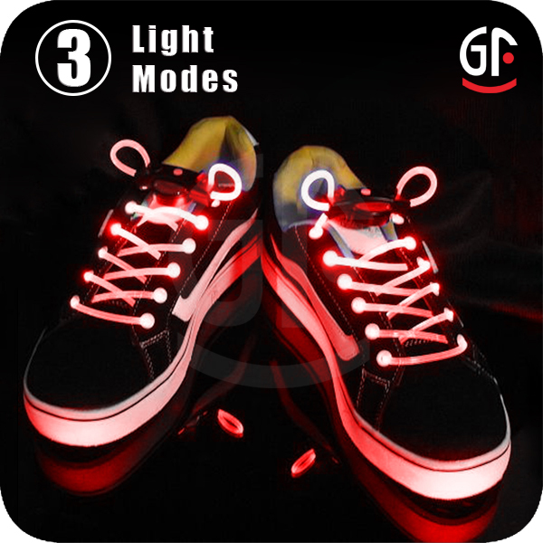 Popular Glowing Shoelaces Red Led Light Running Shoes