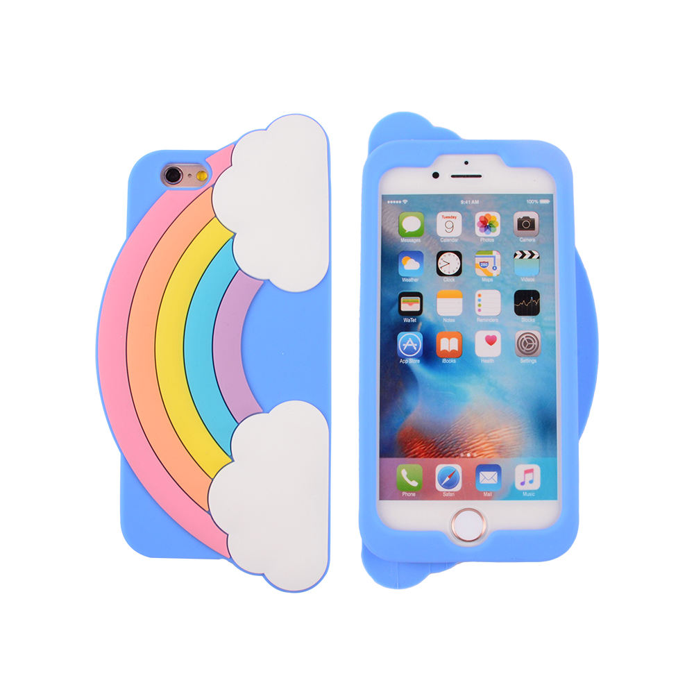 Wholesale Design Rainbow Bulk High Quality Smart Cell Phone Case Soft Silicone Gel Back Case Cover For Iphone 6 6S