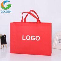 Cheap Recycled Custom LOGO Printing Grocery Tote Shopping Carrier PP Non Woven Bag
