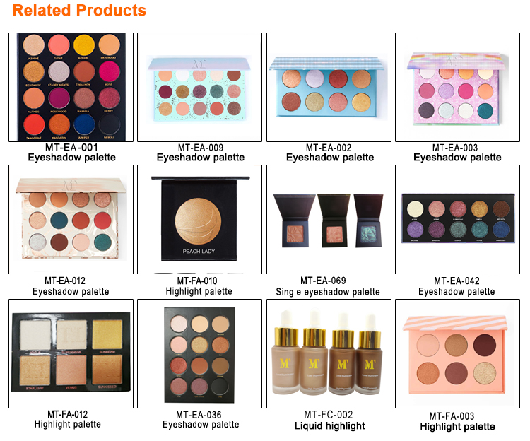 12 Color private label cosmetics dropshipping DIY Your Own Makeup Cardboard Palette