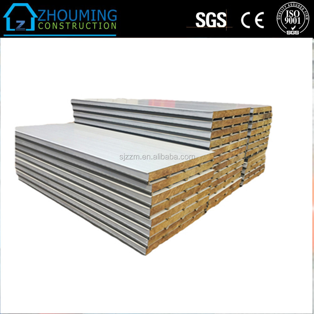 Newly designed popular sell rock wool sandwich panel with cheap price