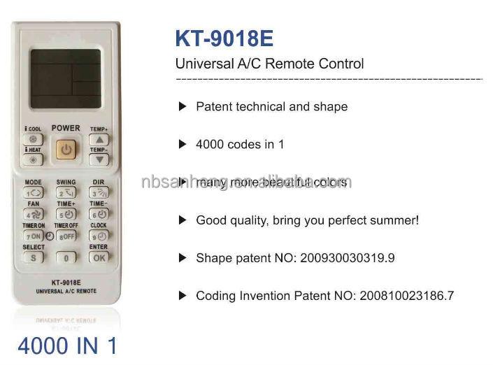 Universal Remote Control For Ac Kt 9018e Coowor Com