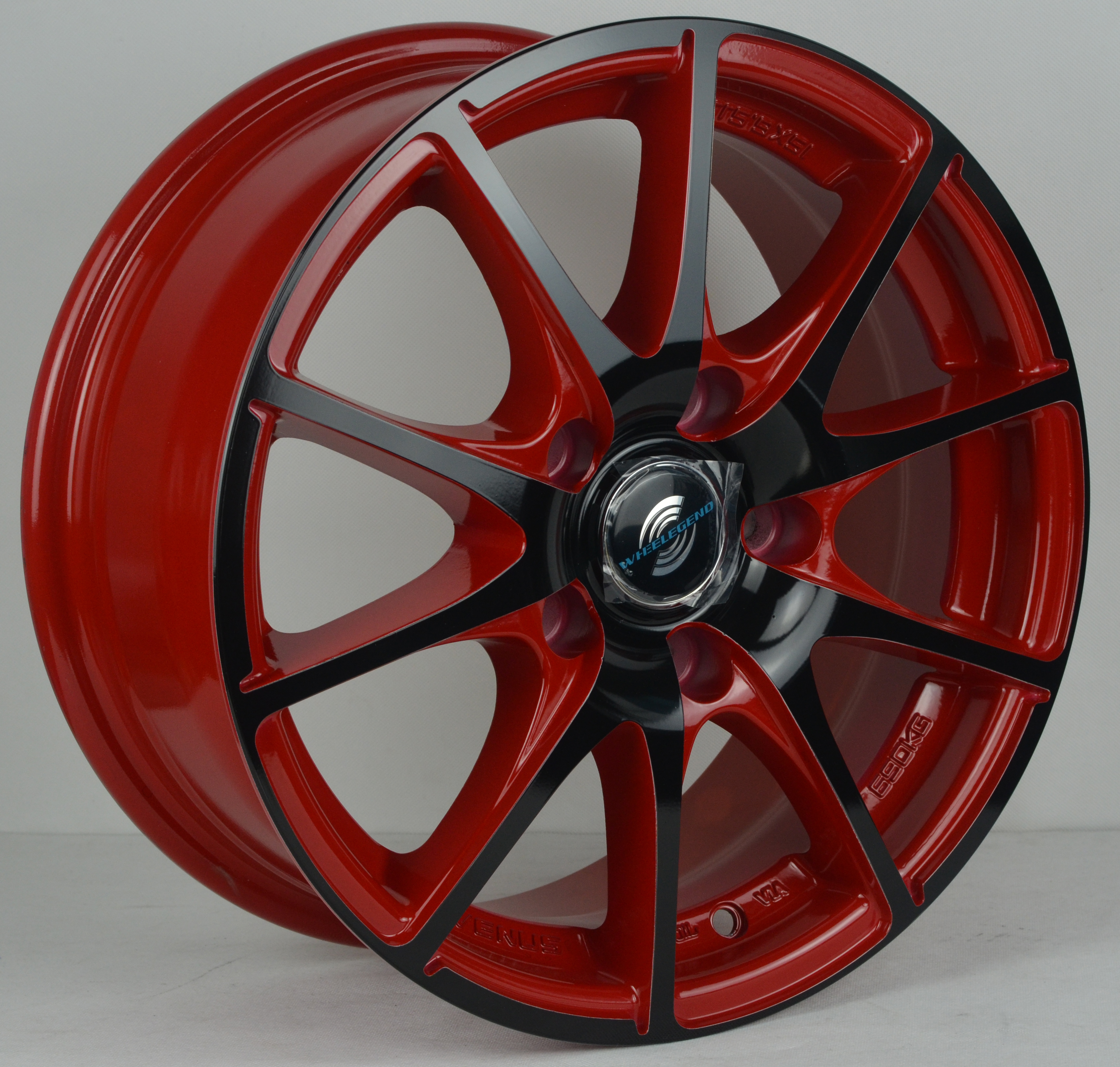 Red Car Rims 16 17 18 Inch Alloy Wheels For Car