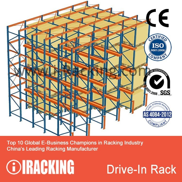 Warehouse Storage Metal FIFO Drive In Racking(iRacking)