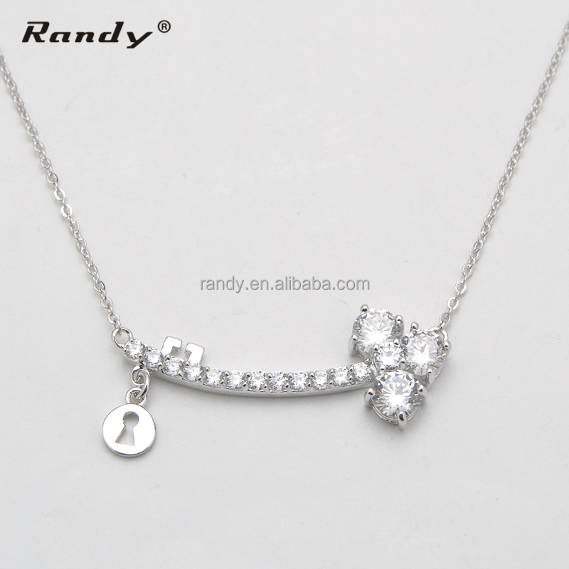 chain necklace simple necklaces sides jewelry women pendant cool wedding design female fashion heart wholesale steel in for item from two stainless