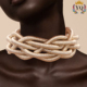 NYQ-00959 statement chunky collar choker necklace set twist with magnetic clasp hot sell