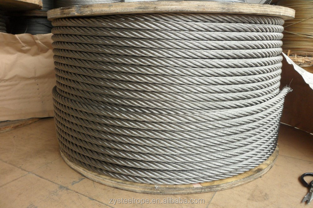 8x19S+FC Linear Contact Lay Steel Wire Rope 12-55mm