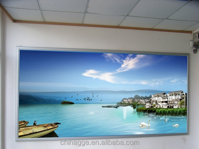 Outdoor wall mount backlit metal frame fabric light box 270g with PVC cloth