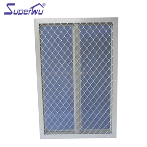 Aluminum glass billowing shade louvers windows with security grill