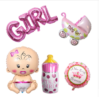 Baby Shower 1st Birthday Foil Balloon Boy Girl Hat Party Decorations Kids Christening Diy Decor