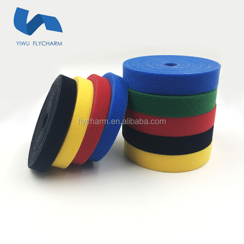 Wholesale colorful back to back hook and loop cable tie plant tie