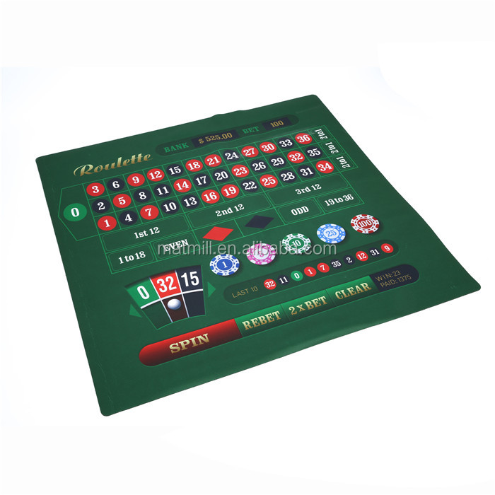 Custom printing fabric surface rubber card game play mat