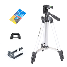 Tripod Kit WT3110A Tripod with Head Tripod for DSLR Camera Canon Nikon Sony + Lens Cleaning Paper + Phone Clip + Camera Eyecup