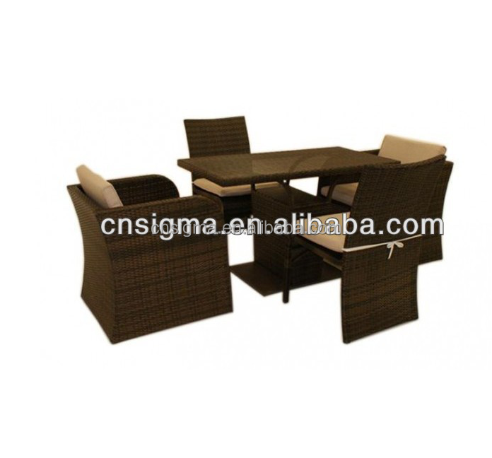 2014 Hot Sale New Rattan Garden Furniture - Balcony Dining Table And Chair Set