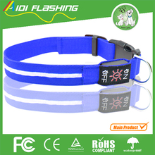 LED Safety Dog Collar Flashing Light Up,Battery Operated Flash LED Dog Collar Makes Your Pet Visible,Safe and Seen