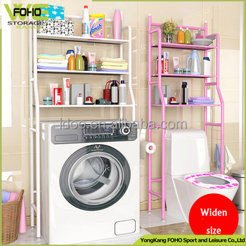 3 Tier Metal Steel Tube Pipe Washing Machine Storage Rack, Floor Washing  Machine Storage Rack