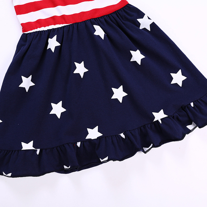 2019 cheap summer girl child trendy clothing brace dress print star with best service and low price